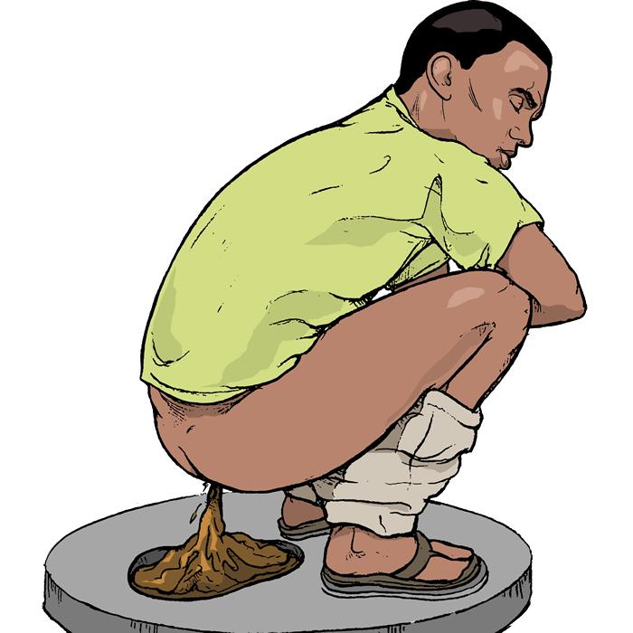 diarrhea - causes, symptoms, treatment, diagnosis and prevention, Skeleton