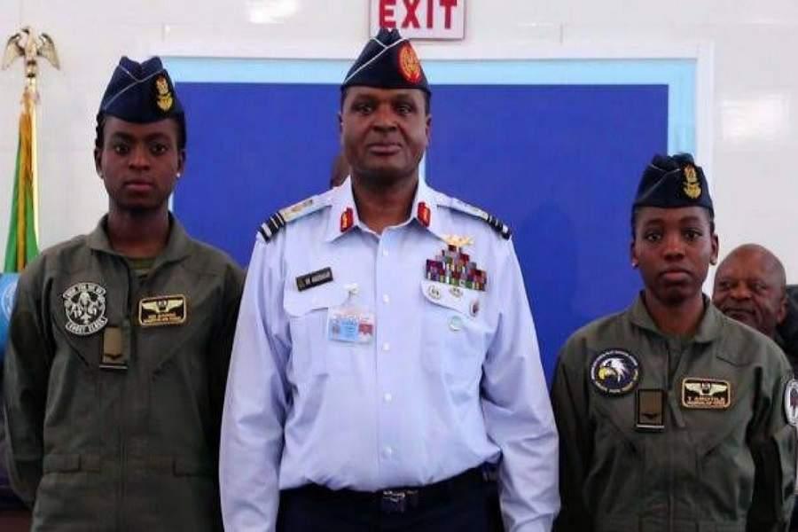 NAF wings two female pilots